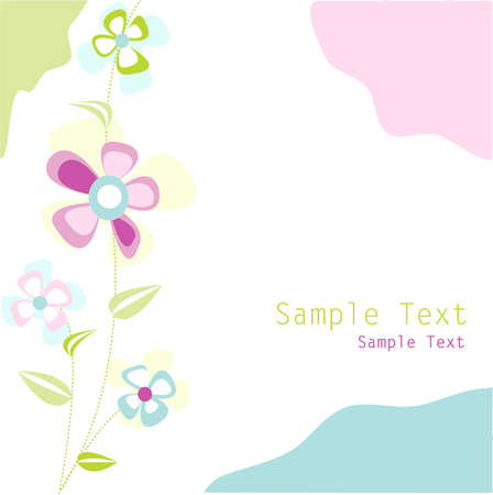 floral card Stock Vector - 10836452