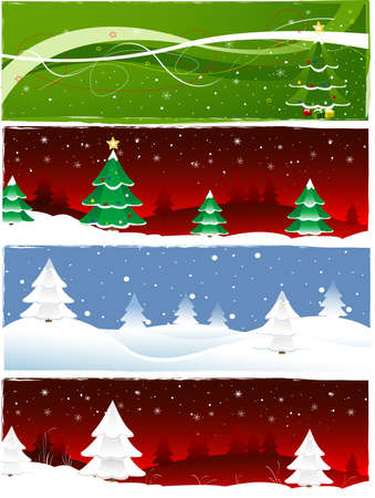 Christmas banner set Stock Photo - 10990738
