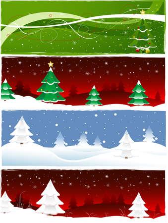 Christmas banner set Stock Photo - 10990738
