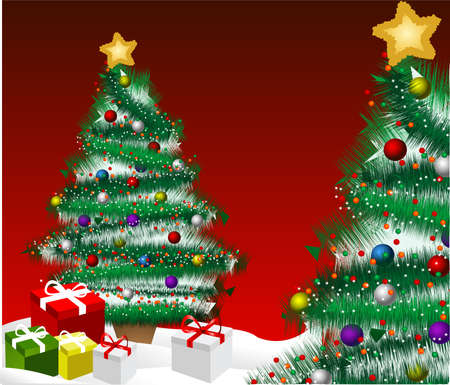 Christmas tree background photo