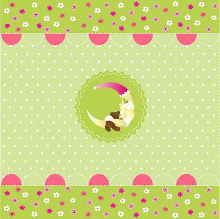 seamless baby pattern, baby card Vector