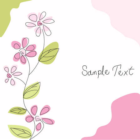 floral greeting card Stock Vector - 11016233