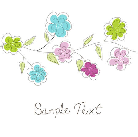 floral greeting card Stock Vector - 11016240