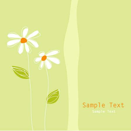 tarjeta de felicitación floral Ilustración de vector