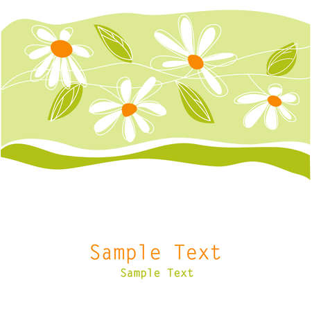 floral greeting card Stock Vector - 11134165