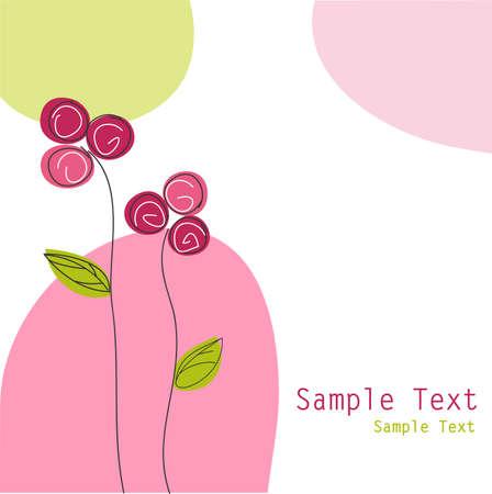samples: floral greeting card