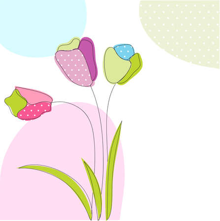 floral greeting card Stock Vector - 11378088