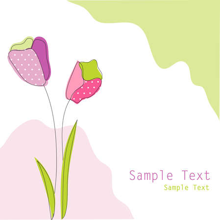 sample text: floral greeting card