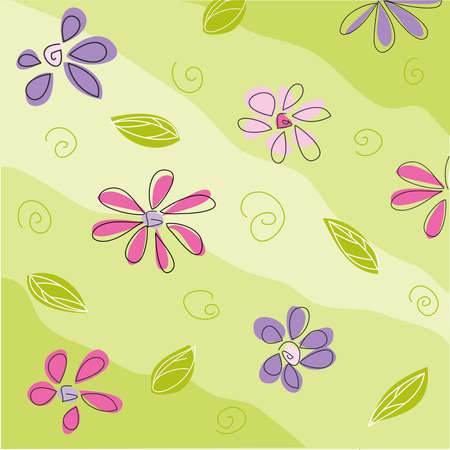 love wallpaper: floral greeting card