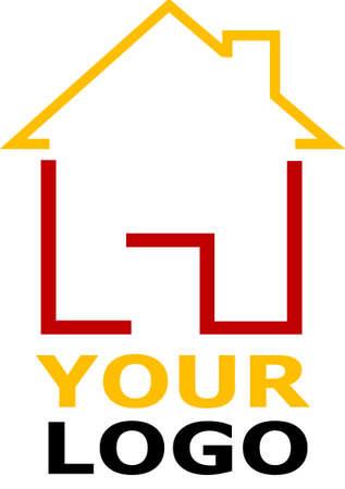 홈 아이콘과 함께 회사 로고