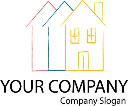Company logo with a home icon Stock Vector - 11813705