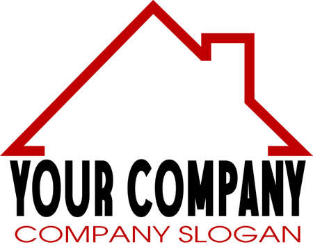 Company logo with a home icon Vector