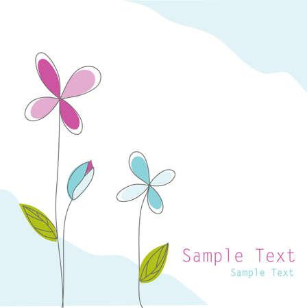 fabric samples: floral card Illustration