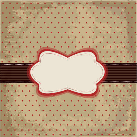 Vintage polka dot design Vector