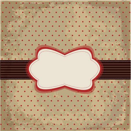 Vintage polka dot design Stock Vector - 11662018