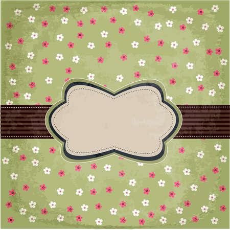 빈티지 꽃 카드 디자인