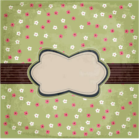 vintage floral card design Vector