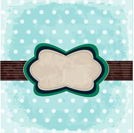 Vintage polka dot design