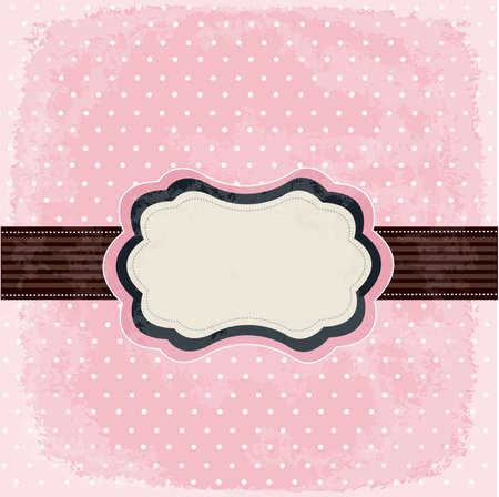 Vintage polka dot design Stock Vector - 11662035