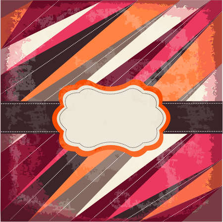 vintage card with frame Vector