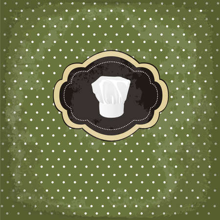 vintage design card with chef hat frame Vector