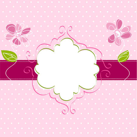 vintage frame background Illustration