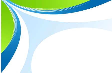추상 녹색과 파란색 배경 일러스트