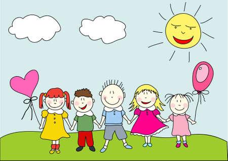 Crianças felizes Ilustración de vector