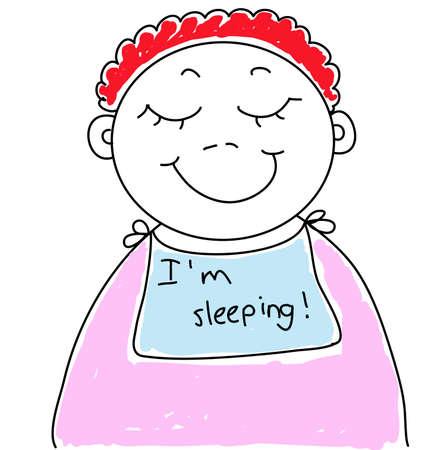comic baby: baby is sleeping