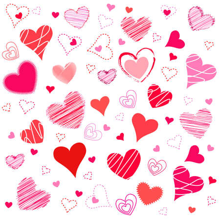 pink hearts: Valentines Day