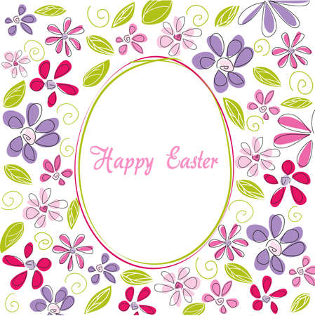 cartoon egg: Happy Easter Illustration