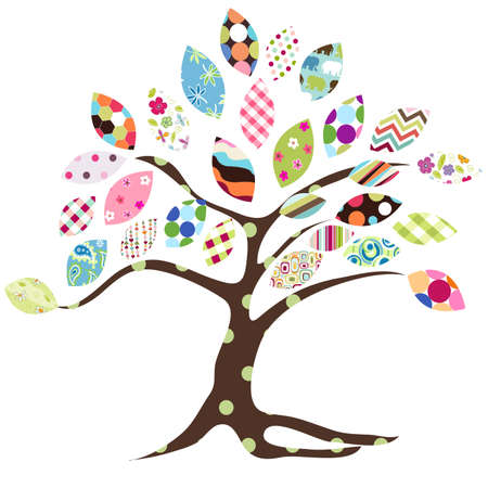 arbol de pascua: árbol de patrón de