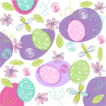 floral, easter card Stock Vector - 12826689