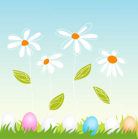 floral, easter greeting card Stock Vector - 12826690