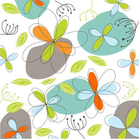 april: floral, easter card