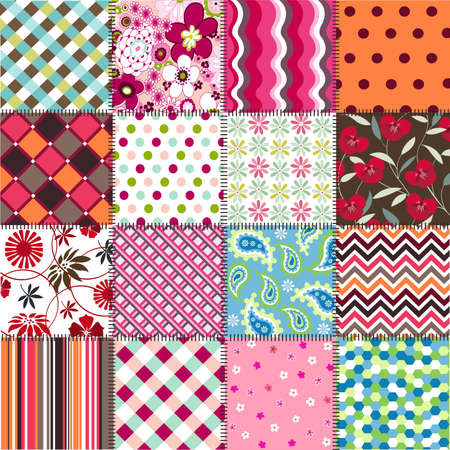 seamless patterns with fabric texture Vectores
