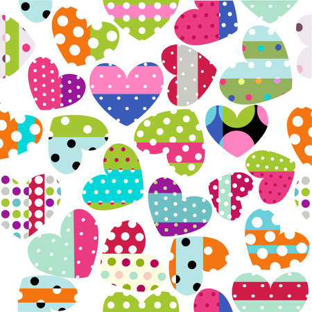 polka dots: heart patches Illustration