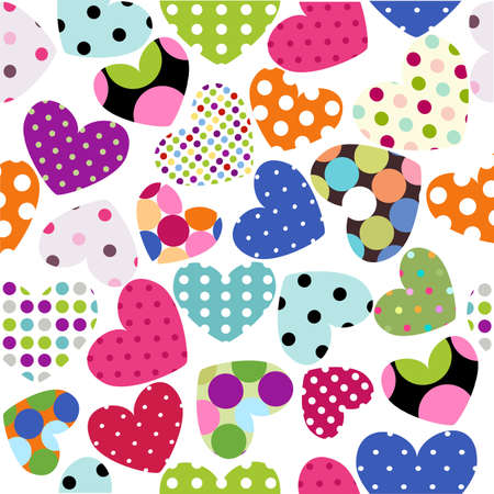patchwork pattern: heart patches Illustration