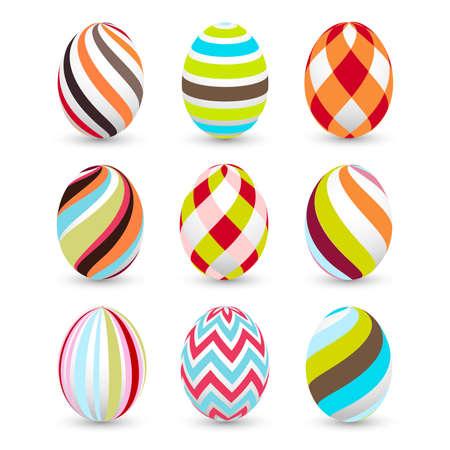 egg shape: easter eggs, happy easter Illustration