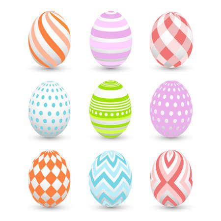 easter eggs, happy easter Stock Illustratie