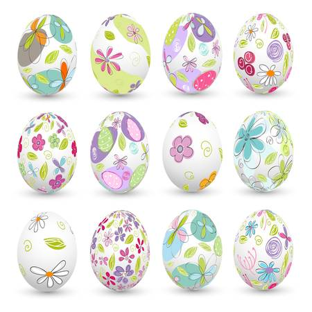 easter eggs, happy easter Illustration