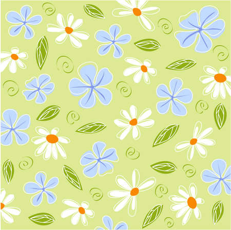 april flowers: floral card, background