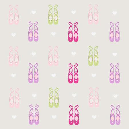 ballerina shoes background  Stock Illustratie