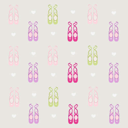 ballet dancer: ballerina shoes background  Illustration