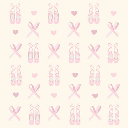 clipped: ballerina shoes background  Illustration