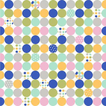 seamless pattern, polka dot fabric, wallpaper Illustration