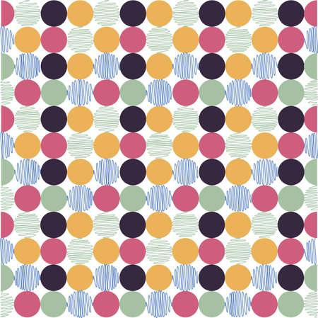 seamless pattern, polka dot fabric, wallpaper Vectores