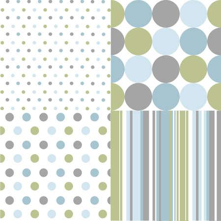rayas de colores: patrones de costura, lunares