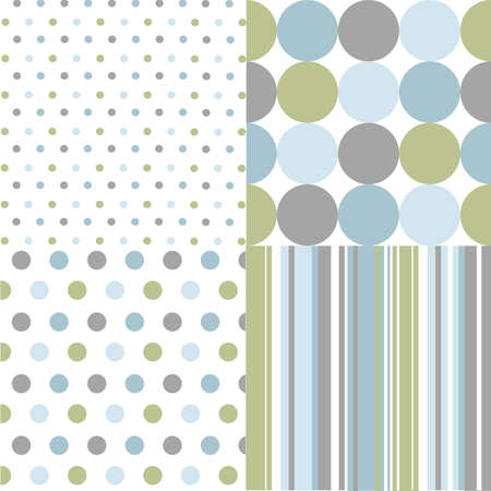 seamless patterns, polka dots  Stock Vector - 13362503