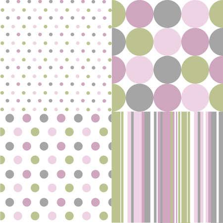 seamless patterns, polka dots  Vectores
